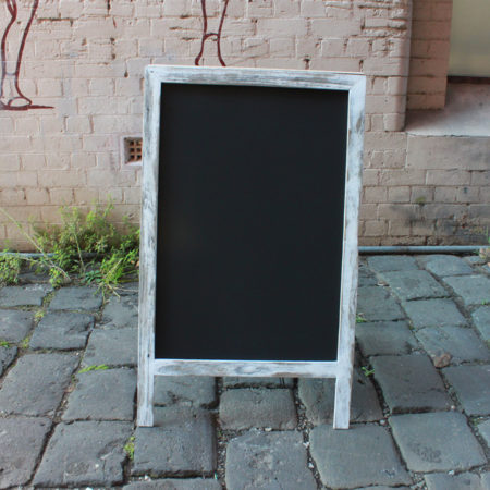 A Frame Chalk Board White Washed