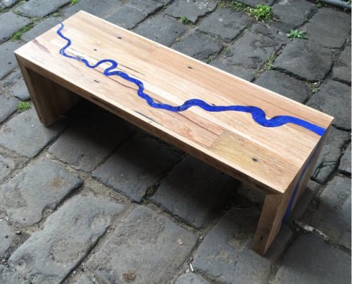 River Thames Rustic Coffee Table