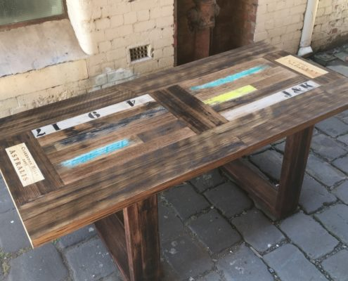 Crate Inlay Dining Table