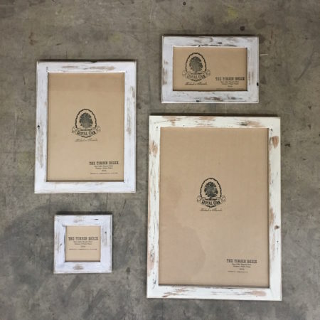 Recycled Timber White Wash Picture Frame