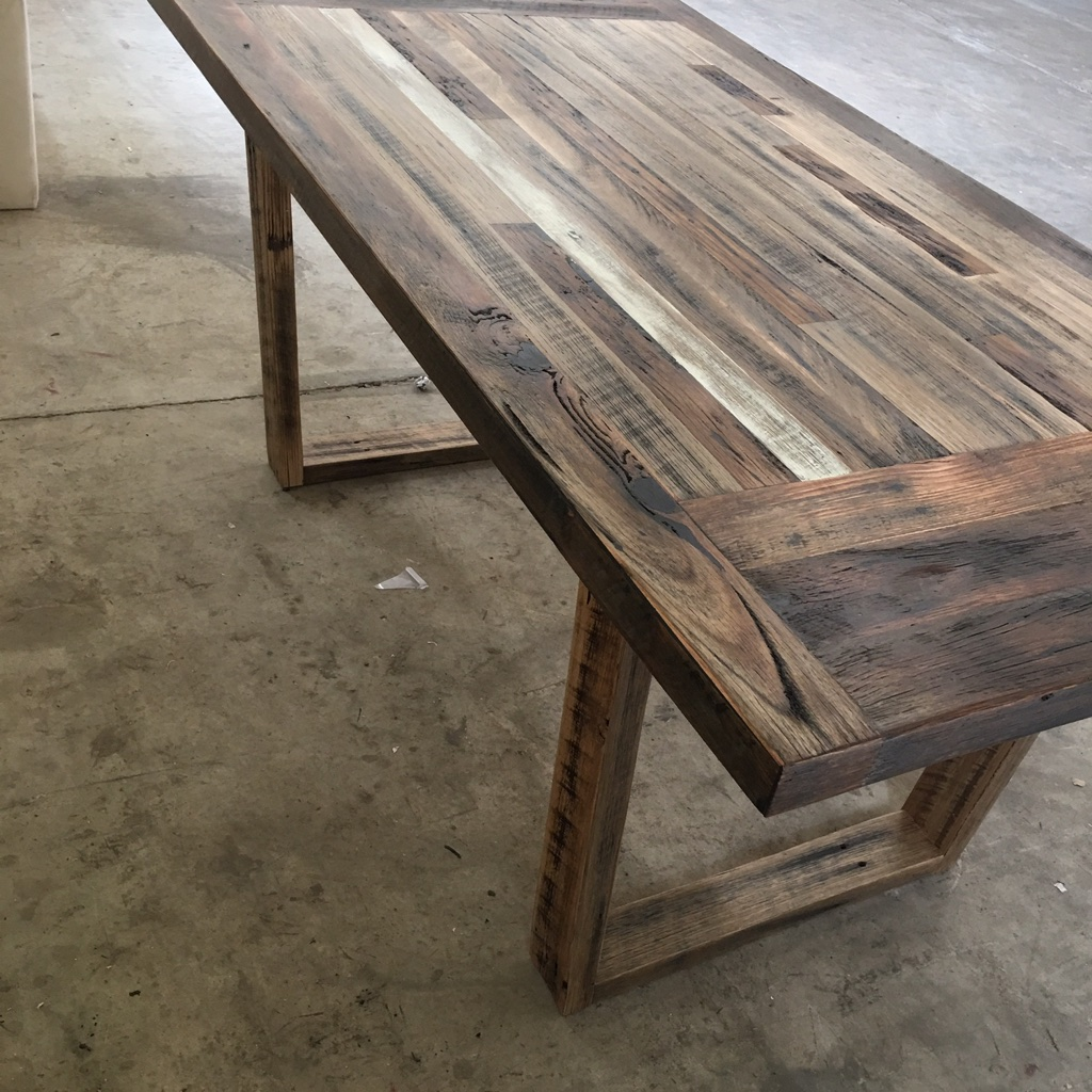 Rustic Dining Table From Palings Amp Rails The Timber Shack
