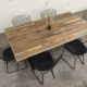 Recycled Timber Dining Table With Colour Accents