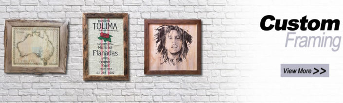 Custom Recycled Timber Picture Frames