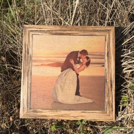 Wedding Print On Wood