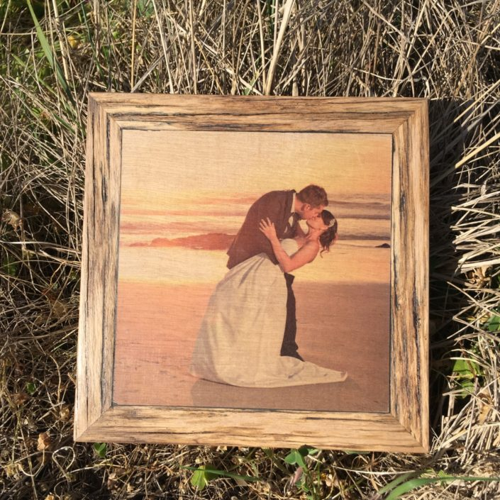Wedding Print On Wood