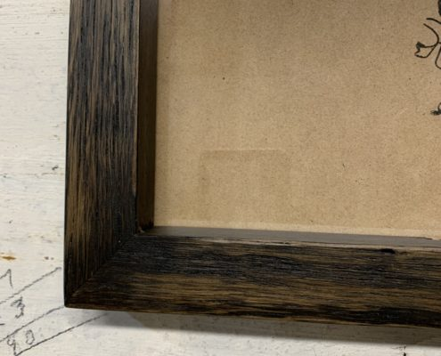Charred Black Recycled Picture Frame